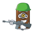 army speaker character cartoon style vector image