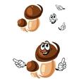Autumn boletus mushroom cartoon character vector image vector image