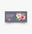 back to nature landing page design with hibiscus vector image