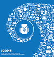 Backpack icon sign Nice set of beautiful icons vector image vector image