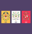 banner with symbols native american culture vector image vector image