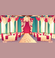 banquet hall ready for wedding ceremony vector image vector image