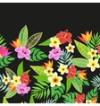 Beautiful seamless floral jungle pattern vector image vector image