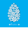 Blue card for Easter vector image vector image