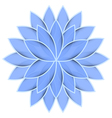 Blue flower lotus on white background isolated vector image