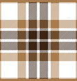 brown and beige tartan plaid seamless pattern vector image vector image