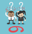 business men and women are confused with numbers vector image vector image