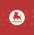 chinese new year 2021 ox greeting vector image vector image