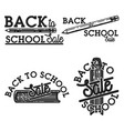 color vintage back to school sale emblems vector image vector image
