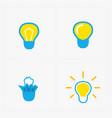 colorful light bulbs bulb icon set vector image vector image