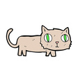 comic cartoon cat vector image vector image