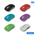 computer mouse in on white background vector image