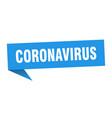 Coronavirus speech bubble coronavirus ribbon sign