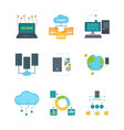 data center icon cloud technology security vector image vector image
