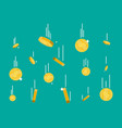 falling gold coins money rain vector image