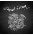 Flower on a blackboard vector image vector image
