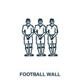 football wall icon mobile apps printing and more vector image vector image
