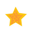 golden star decorated by arabic ornaments floral vector image