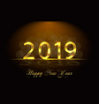 happy new year 2019 background with golden vector image vector image