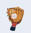 human hand in baseball vector image