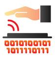 identity biometric scanning flat icon vector image vector image