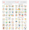 infographics concept icons of modern education vector image vector image
