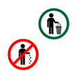 Keep clean icons do not litter sign vector image