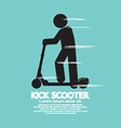Kick Scooter Black Symbol vector image vector image