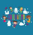 kids cloud animals pattern children vector image vector image