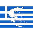 Map and flag of Greece vector image vector image