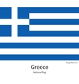 National flag of Greece with correct proportions vector image vector image