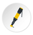 pneumatic screwdriver icon circle vector image vector image