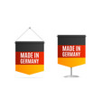 realistic 3d detailed made in germany concept flag vector image vector image