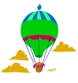 Retro hot air balloon sky background flat icon vector image