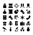 Science icons 5 vector image vector image