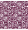 Seamless purple-white vintage pattern vector image vector image