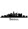 seoul korea city skyline black and white vector image vector image