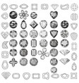 set colored gems vector image