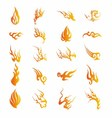 Set of Graphic Design Elements - Fire Floral vector image vector image