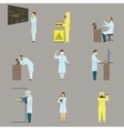 Set of Scientific Characters vector image