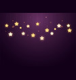 siny stars on purple background vector image