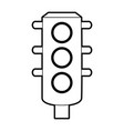 sketch silhouette image traffic light element of vector image vector image