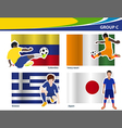 soccer football players brazil 2014 group c vector image vector image