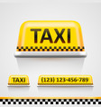 taxi sign vector image vector image