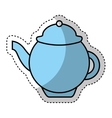 tea pot isolated icon vector image vector image