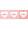 valentines day card valentine banner vector image