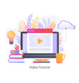 video tutorial for online education vector image vector image