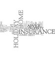 where to get the best holiday home insurance vector image vector image