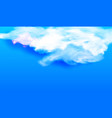 white cloud against the blue sky vector image vector image