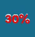 winter sale 30 percent winter sale background vector image vector image